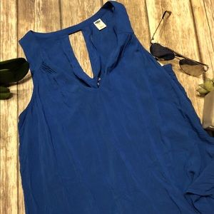 OLD NAVY Sleeveless Blue Medium Blouse
